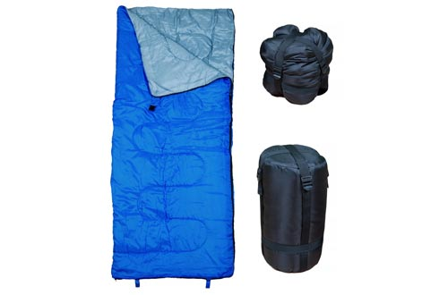 REVALCAMP Lightweight Blue Sleeping Bag Indoor & Outdoor use. Great for Kids, Youth & Adults. Ultralight and Compact Bags are Perfect for Hiking,...