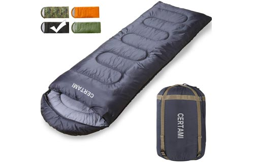 CER TAMI Sleeping Bag for Adults, Girls & Boys, Lightweight Waterproof Compact, Great for 4 Season Warm & Cold Weather, Perfect for Outdoor...