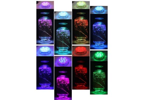 Underwater Submersible LED Lights Waterproof Multi Color Battery Operated Remote Control Wireless LED lights for Hot