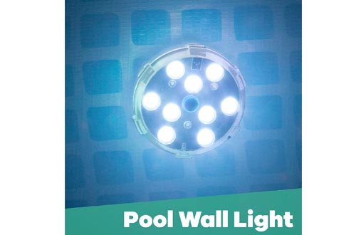 GAME 4306-BB Waterproof Magnetic LED Changing Pool Wall Light with Remote